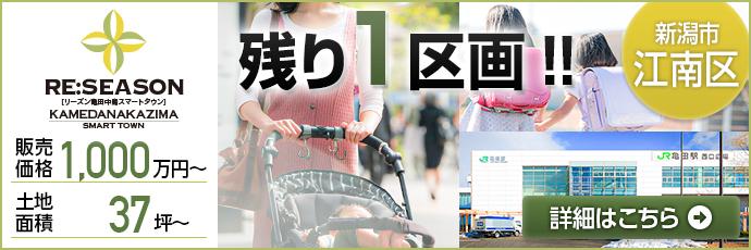 リーズン亀田中島 残り1区画