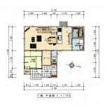 三条市直江町の不動産【土地】の建物プラン例の間取図
