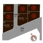 三条市直江町の不動産【土地】の区画図