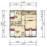 加茂市赤谷の不動産【土地】の建物プラン例の間取図