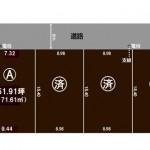三条市西大崎の不動産【土地】の区画図