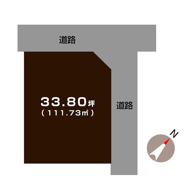 加茂市赤谷の不動産【土地】の区画図