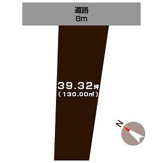 長岡市中貫町の不動産【土地】の区画図
