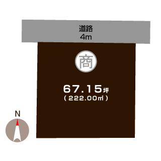 燕市分水旭町の不動産【土地】の区画図