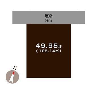 燕市柳山の不動産【土地】の区画図