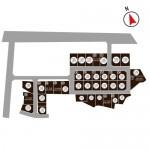 加茂市八幡の不動産【土地・分譲地】の区画図