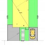 三条市曲渕の土地の建物プラン例の配置図