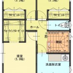 三条市曲渕の土地の建物プラン例の2階間取図