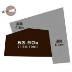 新潟市西蒲区馬堀の不動産【土地】の区画図