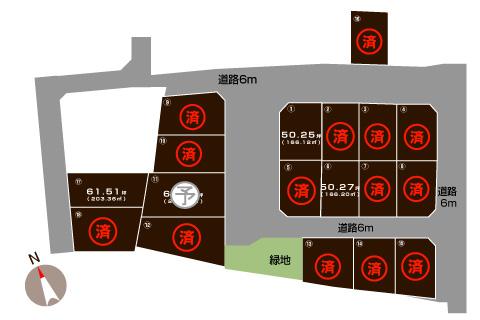 燕市笈ヶ島の土地・分譲地の敷地図