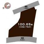 新潟市秋葉区田家の【土地】の区画図