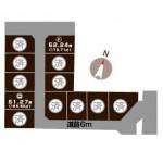 柏崎市半田の【土地】の区画図