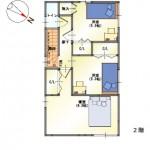 新潟市西区小新の【新築住宅《B棟》】の間取図