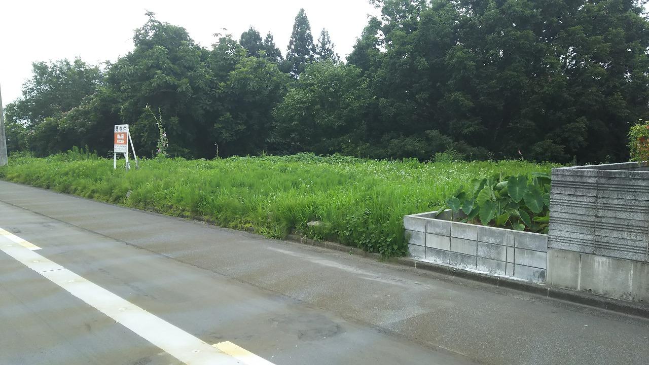 長岡市高町の土地の写真(現地)