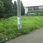 長岡市高町の土地の写真(前面道路)