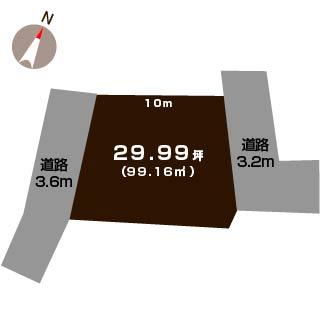 新潟市江南区船戸山の【土地】の敷地図
