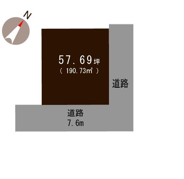 見附市本町の土地の敷地図