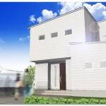 長岡市新保の建物プラン例の外観パース