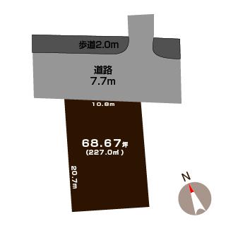 長岡市新保の土地の敷地図(敷地図)