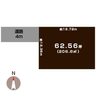 新潟市秋葉区中野の【土地】の敷地図