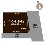 新潟市西区みずき野の土地の敷地図