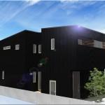 新潟市中央区関屋昭和町の建物プラン例の外観パース
