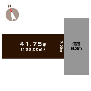 新潟市中央区関屋昭和町の土地の敷地図