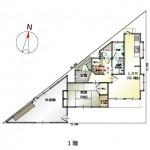 新潟市中央区鳥屋野南の【中古住宅】の間取図
