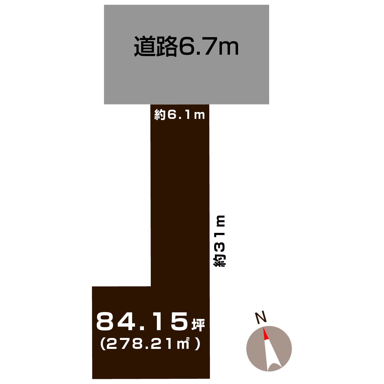 新潟市秋葉区小須戸の【土地】の敷地図