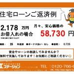 新潟市中央区女池の中古住宅のローン返済例