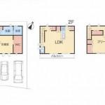 新潟市中央区二葉町の新築住宅の間取図