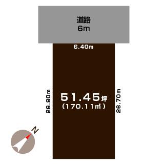 新潟市中央区明石の土地の敷地図