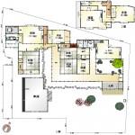 新潟市西区真砂の中古住宅の間取図