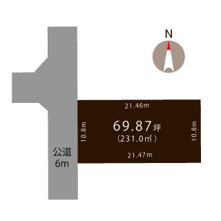 燕市吉田文京町の土地の敷地図