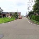 長岡市曲新町の土地の写真(現地)