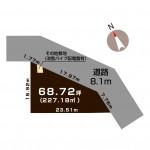 長岡市下々条町の土地の敷地図(敷地図)