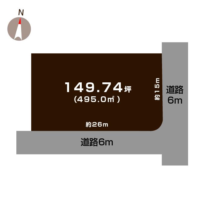新発田市豊町の土地の敷地図