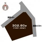 新潟市秋葉区秋葉の土地の敷地図