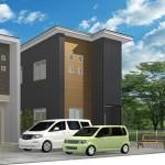 新潟市西区真砂の新築戸建のパース