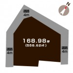 新潟市西区五十嵐2の町の【土地】の敷地図
