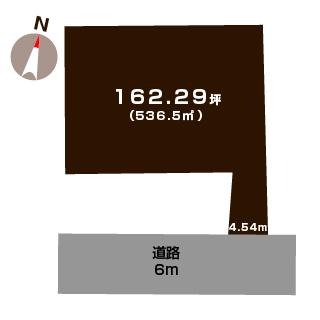 新発田市豊町の【土地】の敷地図