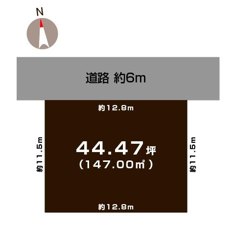 三条市鶴田の土地の敷地図