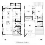 新潟市中央区紫竹の土地の建物プラン例(間取図)