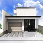 新潟市中央区紫竹の土地の建物プラン例(外観パース)