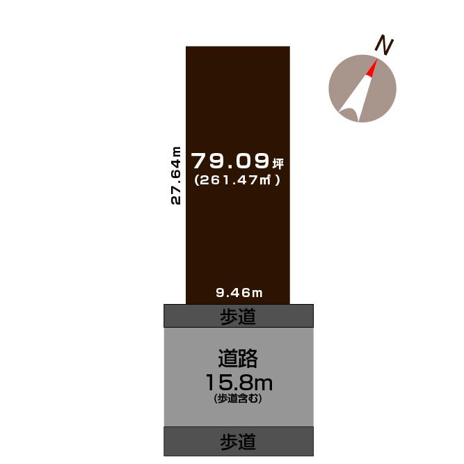 新潟市中央区紫竹の土地の敷地図