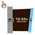新発田市緑町の【土地】の敷地図