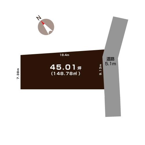 燕市吉田大保町の土地の敷地図(敷地図)