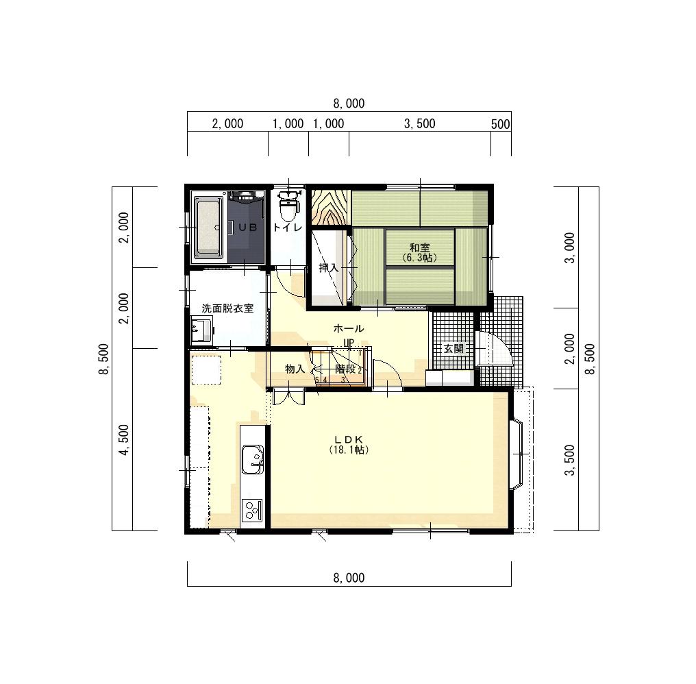 柏崎市下田尻の中古住宅の間取図(間取)