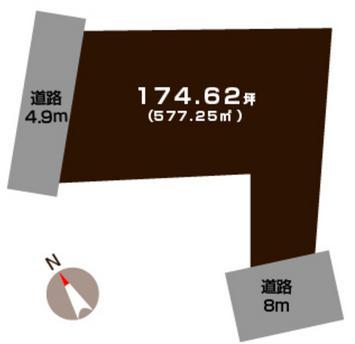 新潟市秋葉区中村の土地の敷地図