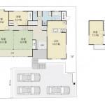 新潟市西区坂井砂山の中古住宅の間取図
